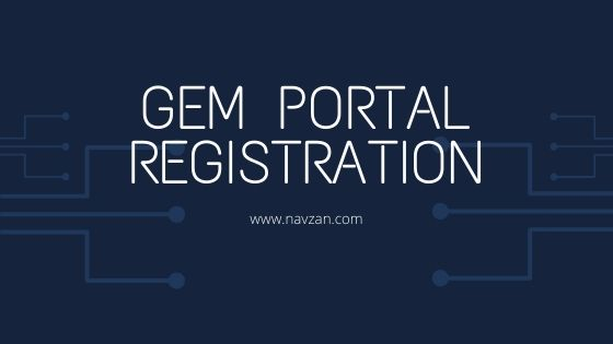 GeM Portal Registration