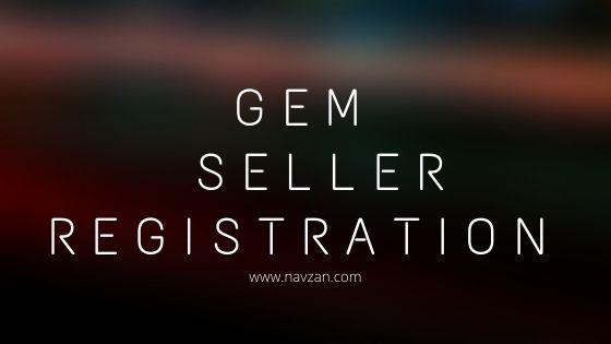 GeM Seller Registration