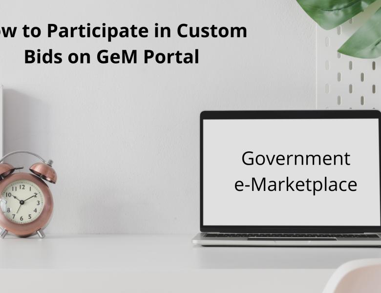 How to participate in custom bid on gem